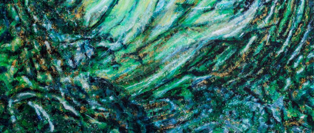 Acrylbild, grün