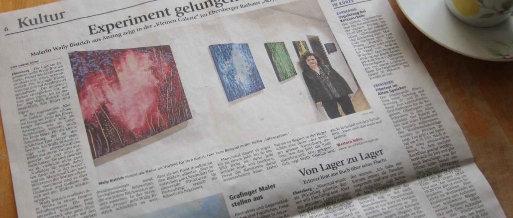 Presse-Echo Ausstellung im Rathaus Ebersberg