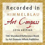 """Listung im Künstlerkatalog """"Himmelblau Art Compass"""""""